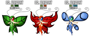 Fakemon: 13 - Fairfaery forms by MTC-Studios