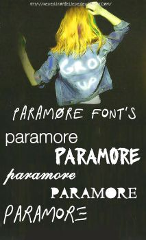 Paramore's Fonts by NeverStopBelieve