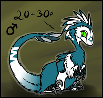 Raptor Adoptable 7 - CLOSED by MoonKiarara