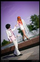 Lelouch and Shirley: walking by KoujiAlone