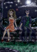 Harry and Hermione in Moonligh by Jade-Magic