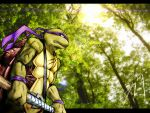 Donatello in the woods by FireDolphin