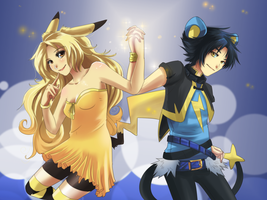 Pikachu x Luxio by HylianGuardians