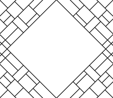 Coloring Book- Triangle, Squares, and Lines 000 by Midniteoil-Burning