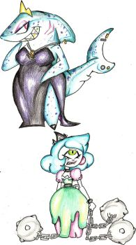 Princess Sully Shark and Princess Cindy Chains by Coraline-176