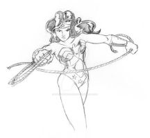 Wonder Woman Sketch by Sideways8Studios