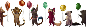 Lots of balloons by Zhucha