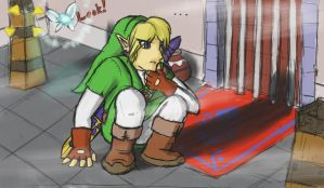 Link - Looking for Clues by Jo-Onis