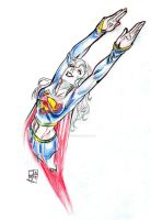 Sketch Jam 8: Supergirl by PacoSantoyo