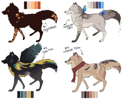 Canine Point Adopts   OPEN (NOW ADOPTABLES) by dayylights