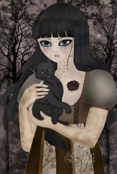 Me and My One-eyed BlackFeline by willowgothicprincess