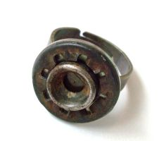 Steampunk Assemblage Ring by salvagedsword