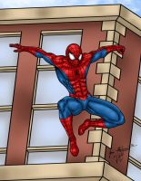 Spidey Jumping Down by jmaturino