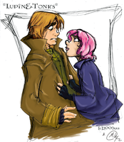 Tonks and Lupin  Color by mikyatope