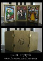 Wooden Triptych of My Saint Art by natamon