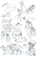 Sketches - end of 2012 by DraconianArtLine