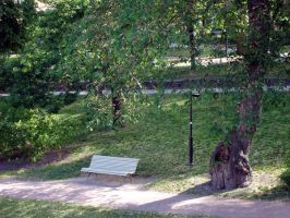 Place 3: Park Bench by MystStock