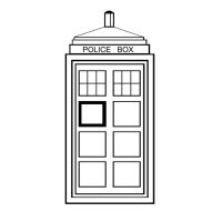 Tardis Lineart by queen382
