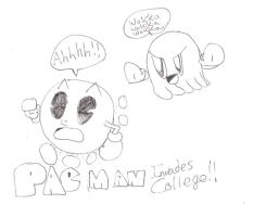 Pac Man Invades College by Aquateen510