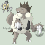 Fakemon Bluffluff by mssingno