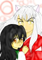 Kagome and Inuyasha by poe76