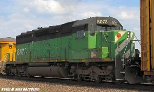Ex Burlington Northern BN SD402 8073 UP MASIH 24 by EternalFlame1891
