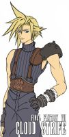 FF7 Cloud Strife +base color+ by X-satsuki-X