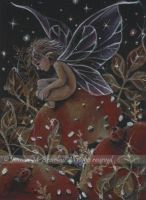 ACEO Golden Fern and Fae by JoannaBromley