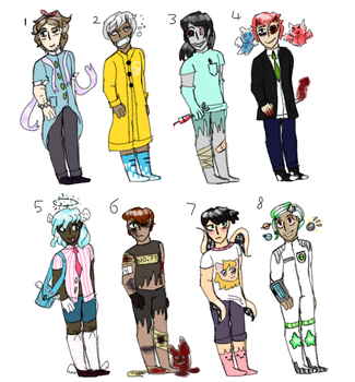 (open) (points to adopt) A bunch o adoptables by LevitatingPiez