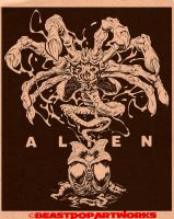 AlienFacehuggerInksWeb by pop-monkey