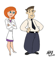 Mr. and Mrs. Dr. Possible by MechEDisneyHokie