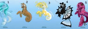 Sea Pony Adoptables by Literate-Adopts
