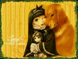 A Girl and Her Dog by Homsar88