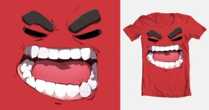 ANGER TEE by arlyboi