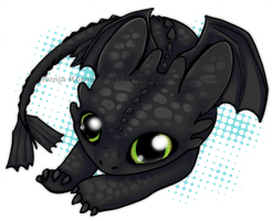 Night Fury Chibi by RonTheWolf