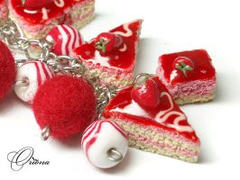 Bracelet 'Strawberry' 2 by OrionaJewelry