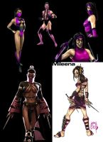 Mileena Evolution by W-Orks