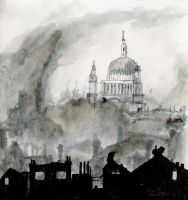 Inktober #5: London Blitz by Yesmouse