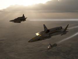 x27b wolfpack over desert by ACXtreme
