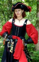 Black Pirate Bodice 2 by MistressKristin