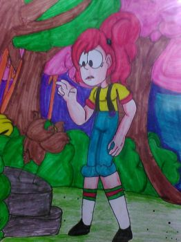 bird in the woods.  by supperhappyfuntime