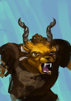 Project 365: Self Portraits. Day 125 Me as Charr by Actonart