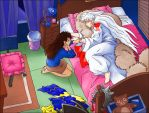 Sesshomaru Asleep by Rinter
