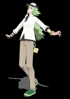 N Harmonia MMD BW Pose by SqueakyTachibana