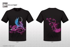 Purple Qilin T-shirt by Sysirauta