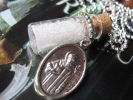 Salt Vial with Exorcism Medal by SpellsNSpooks