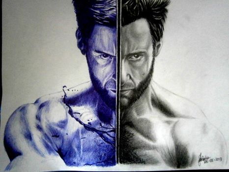ballpoint pen and pencil art by cLoELaLi11