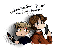 Winchester Bros - The Family Business by EmD-Neko-Chan