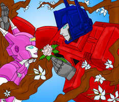 Elita one love Optimus Prime by DARIA3198