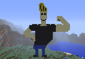 Minecraft- Johnny Bravo by JennyBean4u
